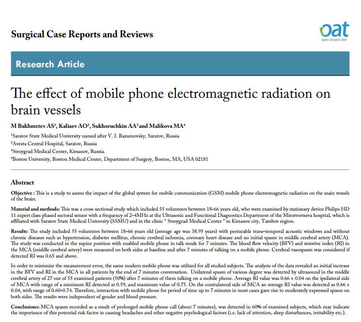 The effect of mobile phone electromagnetic radiation on