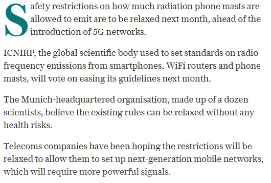 5G: ICNIRP to relax its mobile safety standards guidelines